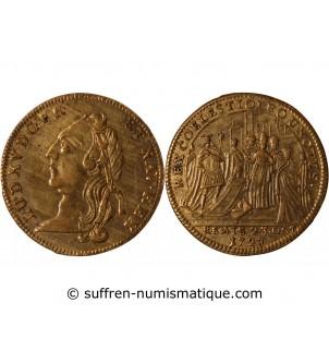 LOUIS XV, Sacre à Reims -...