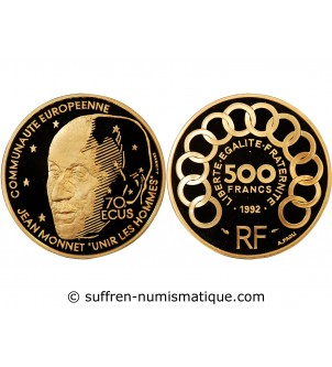 JEAN MONNET - 500 FRANCS OR...