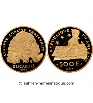 DESCARTES - 500 FRANCS OR /...