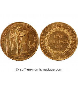 GENIE - 100 FRANCS OR 1881...