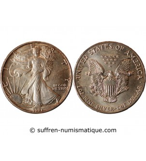 USA - ONCE LIBERTY ARGENT 1991