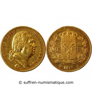 LOUIS XVIII - 40 FRANCS OR...