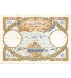 FRANCE, 50 FRANCS Luc...