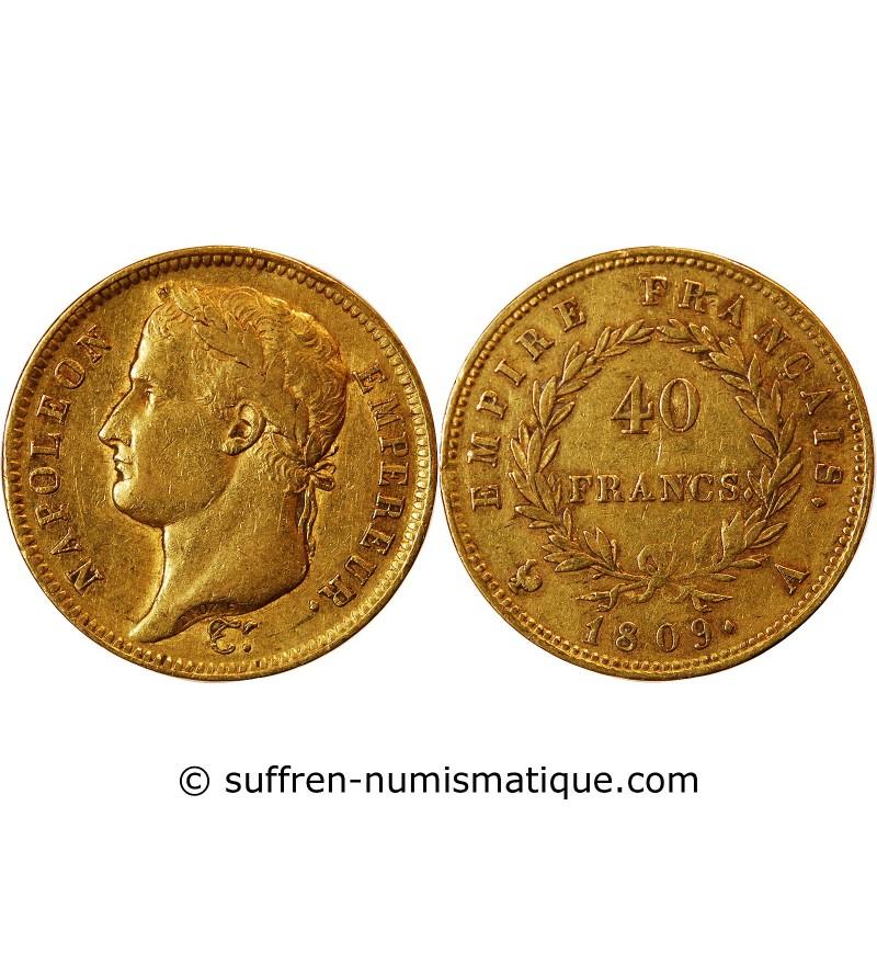 40 FRANCS OR NAPOLEON I  1811 A PARIS