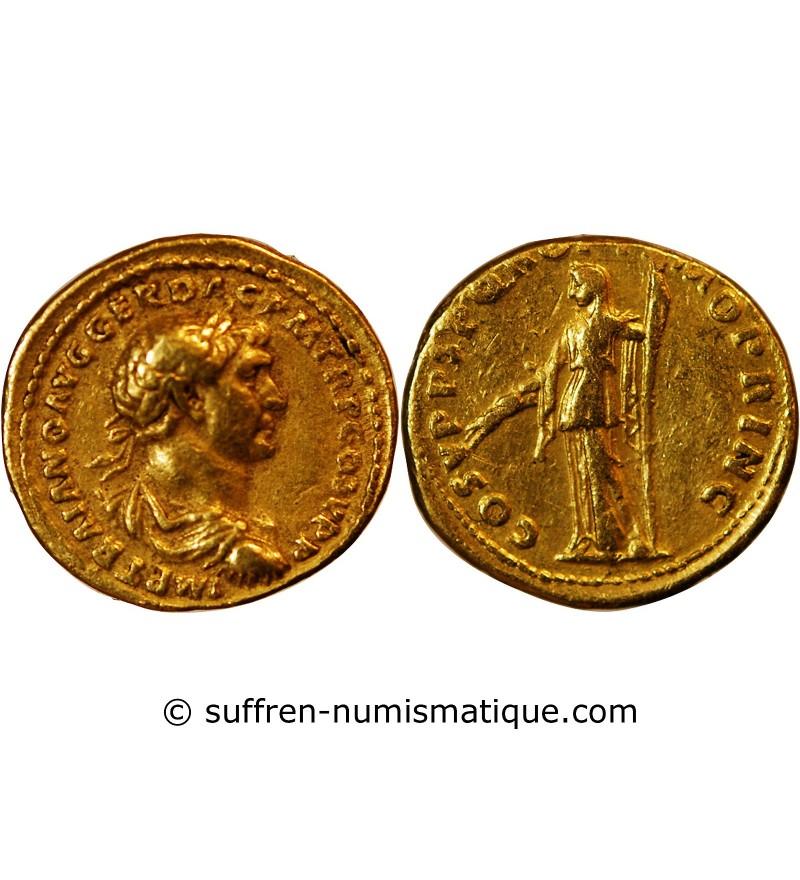 TRAJAN - AUREUS OR ROME 104 Ap JC