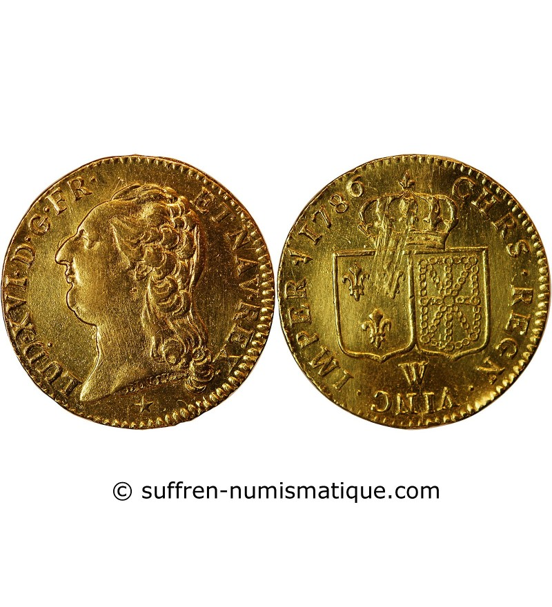 LOUIS XVI - LOUIS D'OR 1786 W LILLE