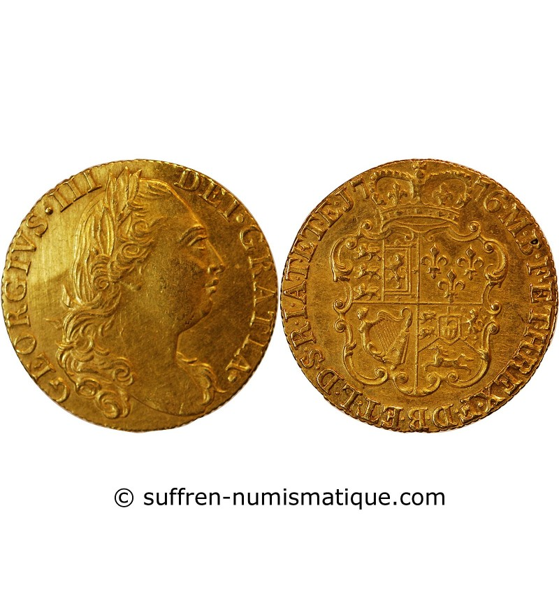 ANGLETERRE, GEORGE III - GUINEA OR 1776