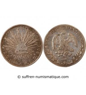 MEXIQUE - 8 REALES ARGENT 1892