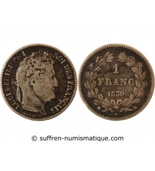 LOUIS PHILIPPE - 1 FRANC...