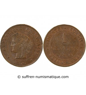 CERES - 1 CENTIME 1878 K...