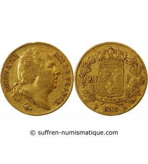 LOUIS XVIII - 20 FRANCS OR...