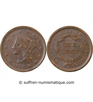 "USA - ONE CENT ""Braided..."