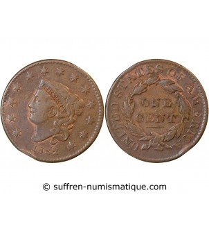 "USA - ONE CENT ""Coronet..."