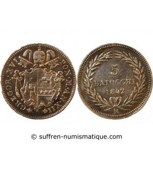 VATICAN, GREGOIRE XVI - 5...