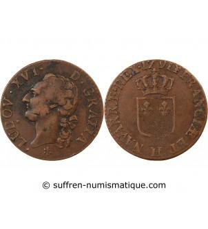 LOUIS XVI - 1/2 SOL 1791 H...
