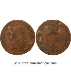 LOUIS XVI - 1/2 SOL 1790 T...
