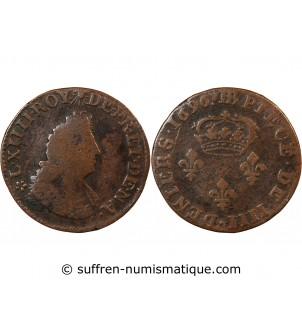 LOUIS XIV - 4 DENIERS 1696...