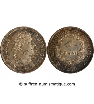 1 FRANC NAPOLEON I  1808 A...