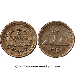 GUATEMALA - 1/4 REAL ARGENT...