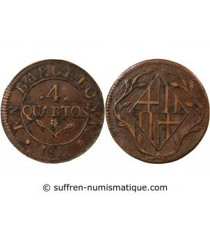 CATALOGNE - 4 QUARTOS 1811...