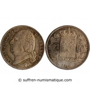 1 FRANC LOUIS XVIII  1816 A...