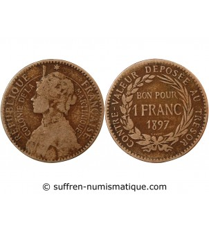 MARTINIQUE - 1 FRANC 1897