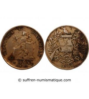 GUATEMALA - 1/2 REAL 1900