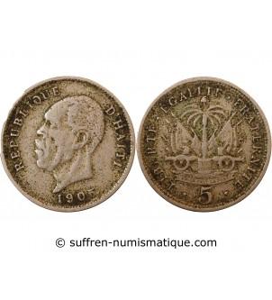 HAITI - 5 CENTIMES 1905