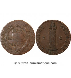 HAITI - 2 CENTIMES 1831
