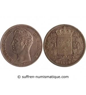 1 FRANC CHARLES X  1829 K...
