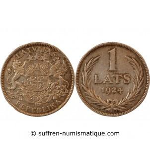 LETTONIE - 1 LATS ARGENT 1924