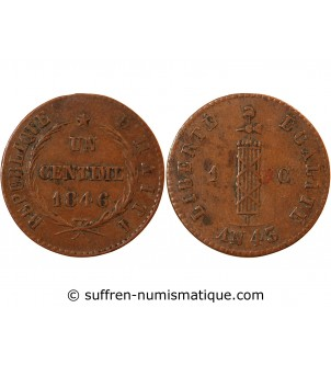 HAITI - 1 CENTIME 1846 (an 45)