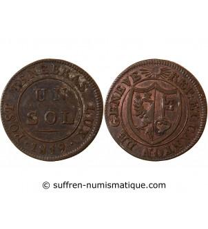 SUISSE, GENÈVE - 1 SOL 1819