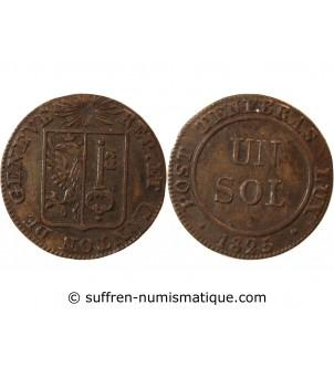 SUISSE, GENÈVE - 1 SOL 1825