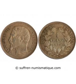 1 FRANC NAPOLEON III  1859...
