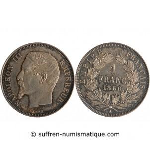 1 FRANC NAPOLEON III  1860...