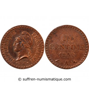 DUPRE - 1 CENTIME 1850 A PARIS