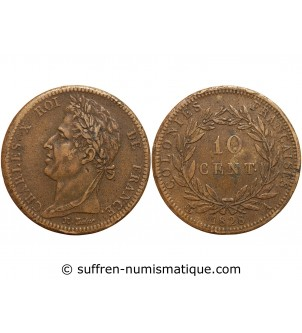 10 CENTIMES CHARLES X 1828...