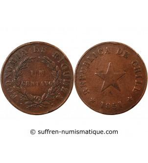 CHILI - 1 CENTAVO 1851