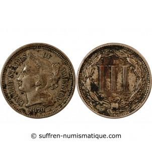 USA - 3 CENTS 1870