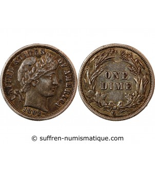 USA - 10 CENTS ARGENT 1892...