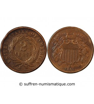 USA - 2 CENTS 1865 UNION...