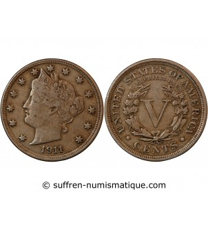"USA - 5 CENTS ""Liberty..."