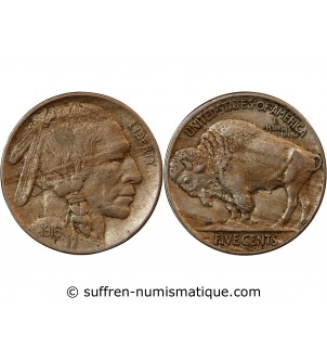 "USA - 5 CENTS ""Buffalo..."