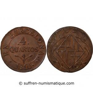 CATALOGNE - 4 QUARTOS 1810...