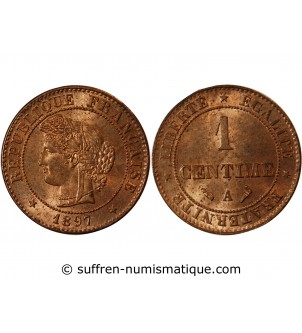 CERES - 1 CENTIME 1897 A PARIS