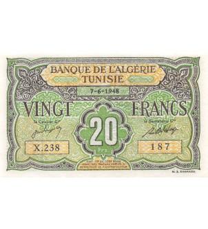 TUNISIE - 20 FRANCS 07-06-1948