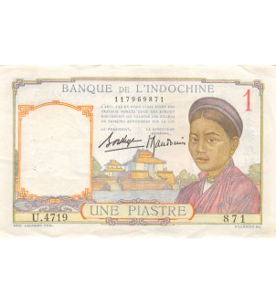 INDOCHINE - 1 PIASTRE 1949
