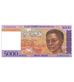 MADAGASCAR - 5000 FRANCS 1995