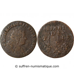 LOUIS XIV - LIARD 1698 E...